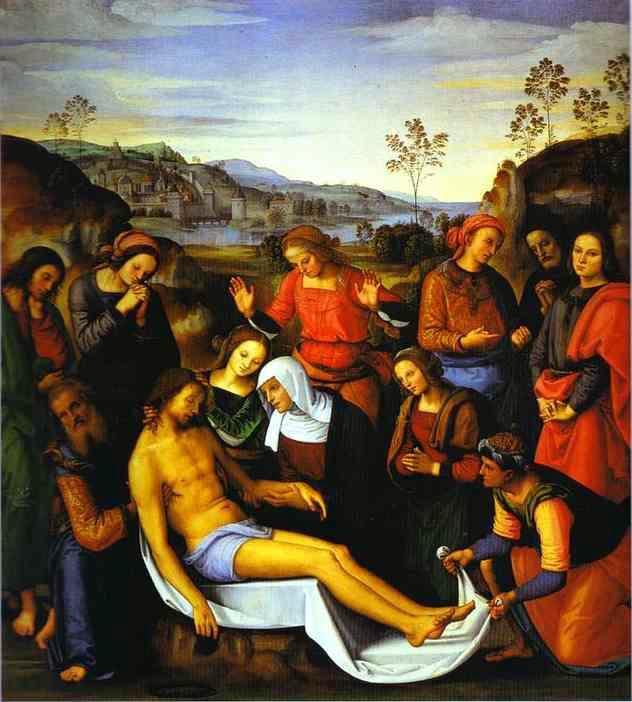 Fișier:Pietro Perugino- The Lamentation Over the Dead Christ.