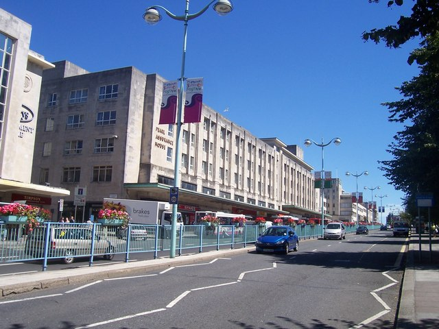 File Plymouth Royal Parade Geograph Org Uk 1185282