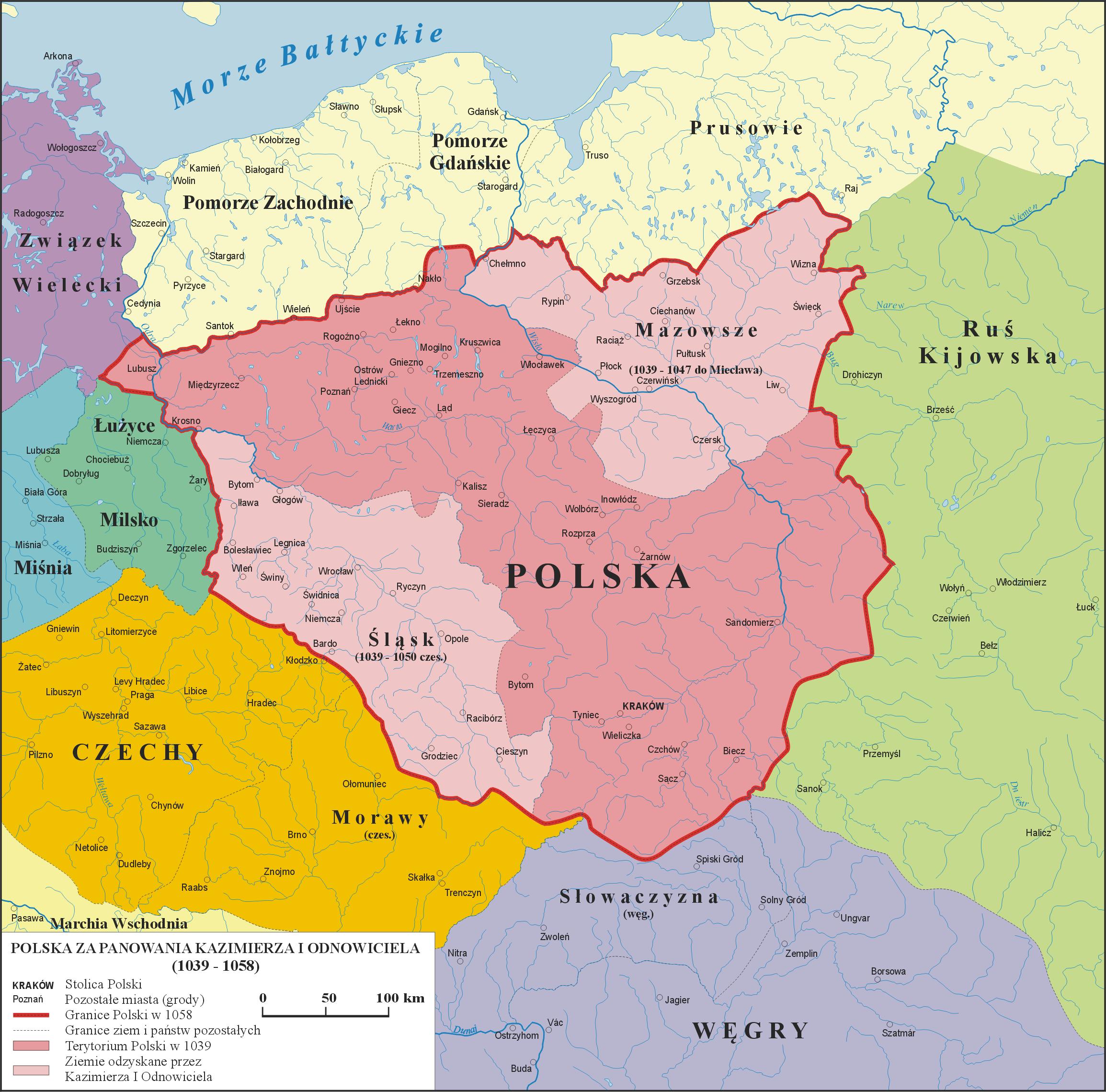 Polska za panowania kazimierza i odnowiciela