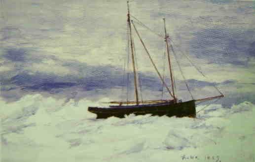 Postbåt i packis av JAG Acke.JPG