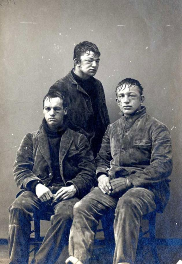 Princeton students after a freshman vs. sophomores snowball fight in 1893.jpg