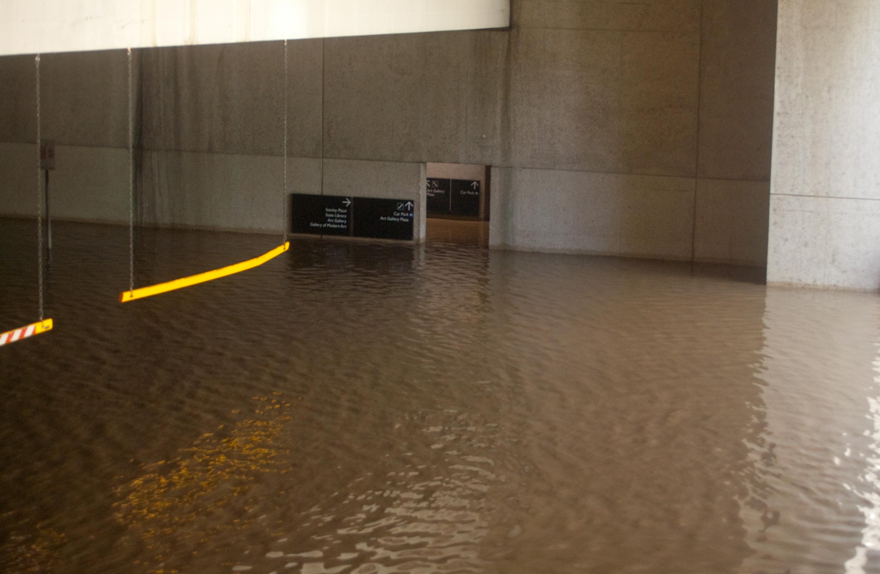 File:Queensland Museum Underground Carpark Flooded.jpg