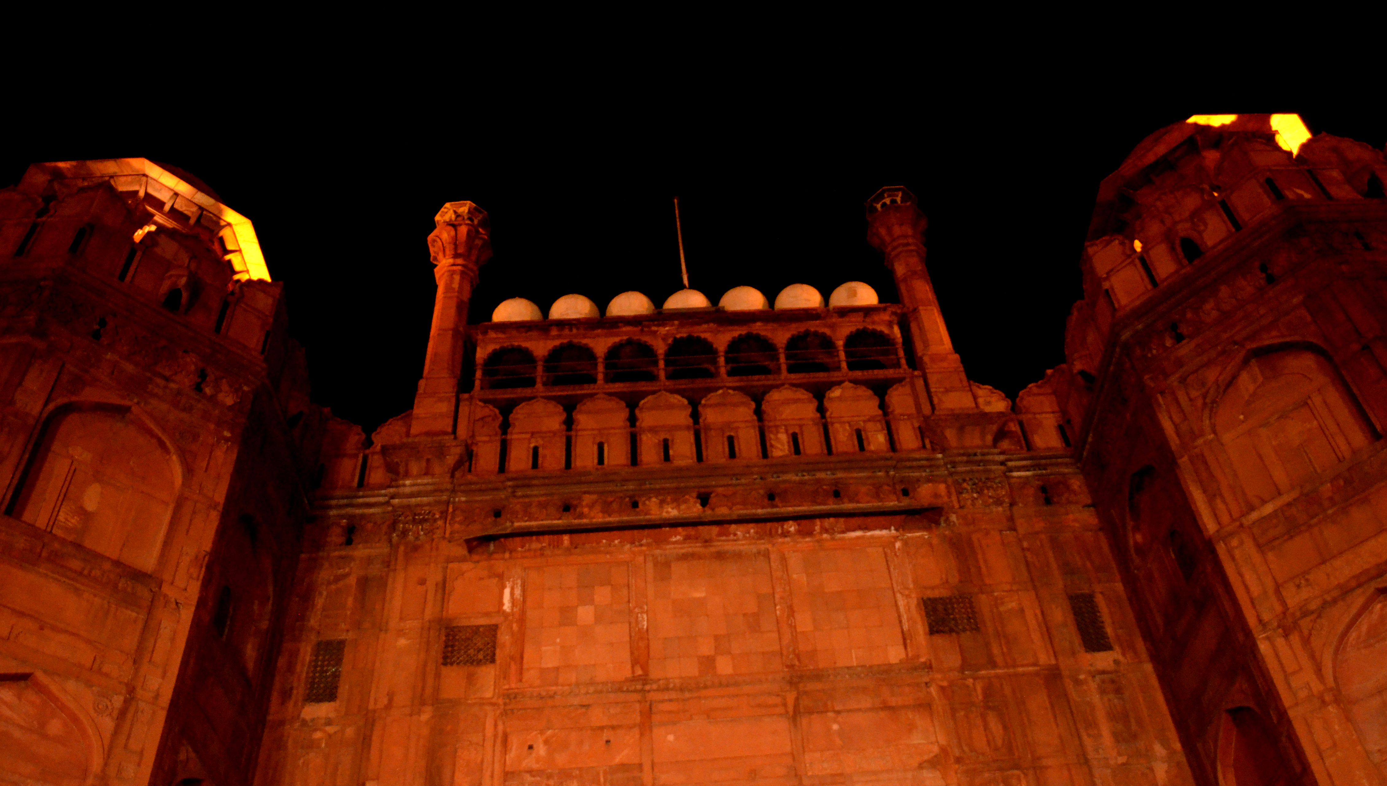 Image result for red fort at night