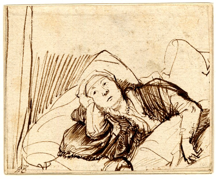 Rembrandt Saskia in Bed