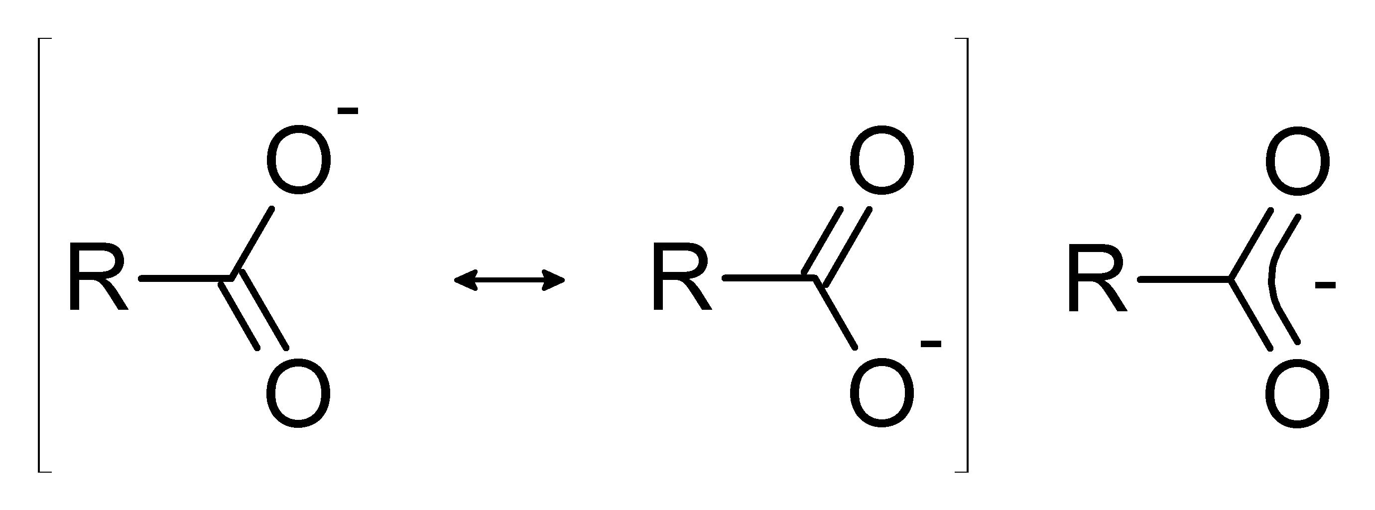 Αποτέλεσμα εικόνας για carboxylic acid resonance