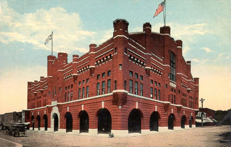 Richmond Light Infantry Blues-Armory, (6th and Marshall Sts.,) Richmond, Virginia; postmarked 1915.