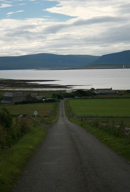 Empty road leading to side of loch