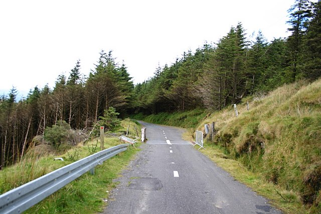 Road to Mt Leinster summit - geograph.org.uk - 536836