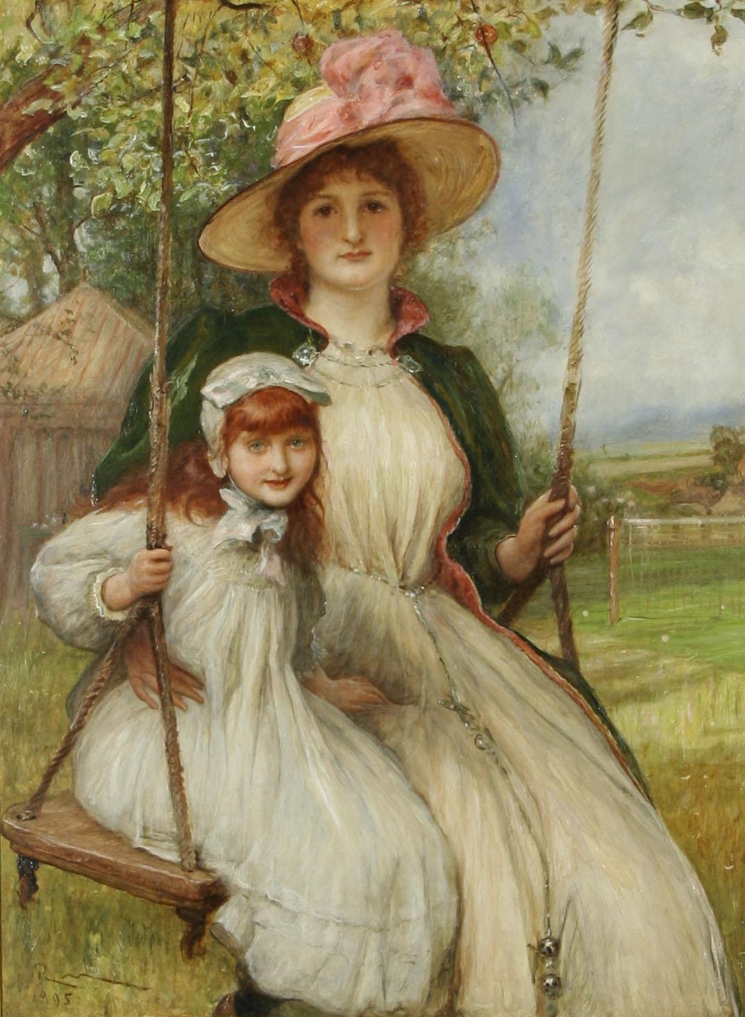 Filerobert Walker Mac Beth Mother And Daughter On A Swing Happy