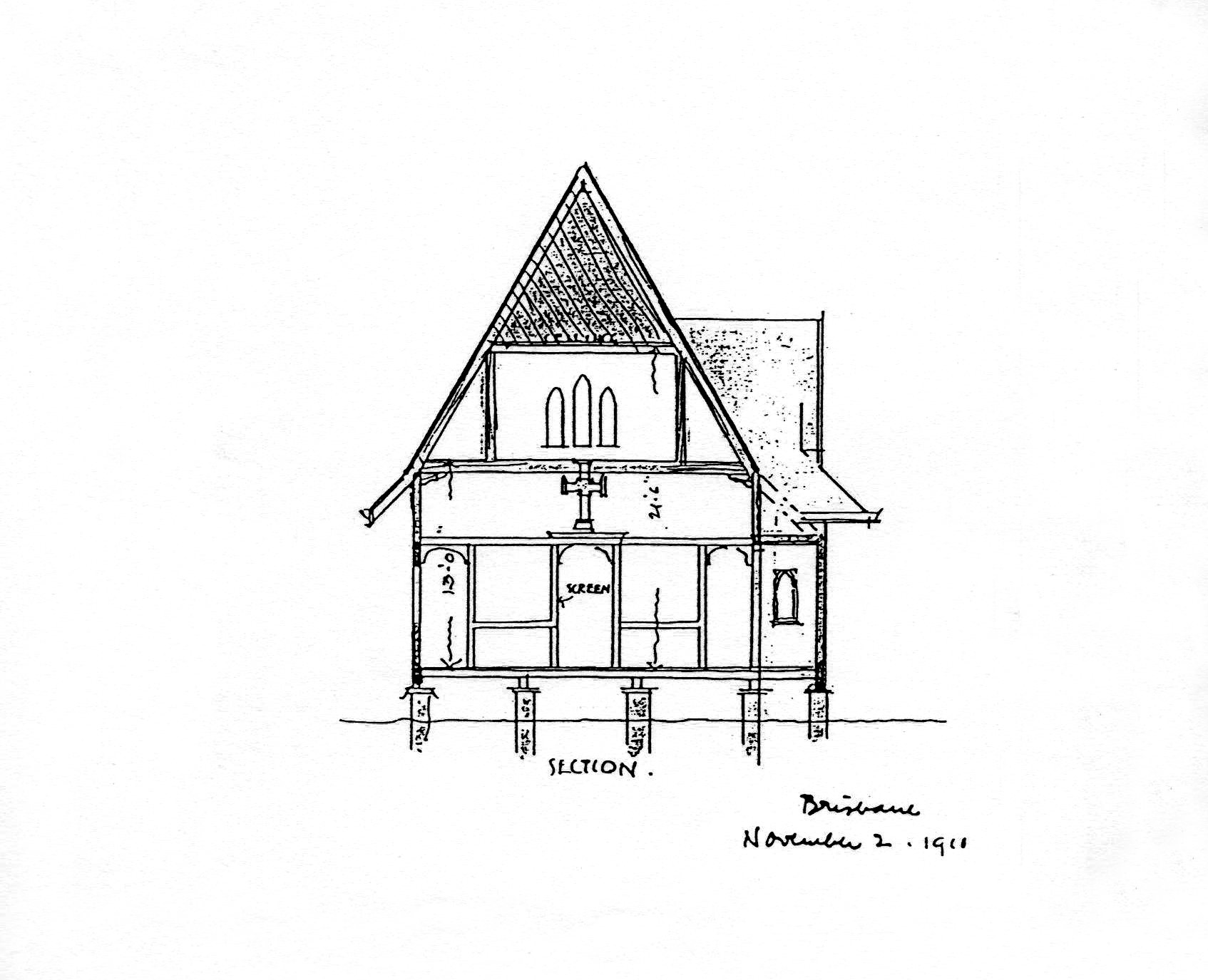 Robin Dods' Architectural Drawing Of
