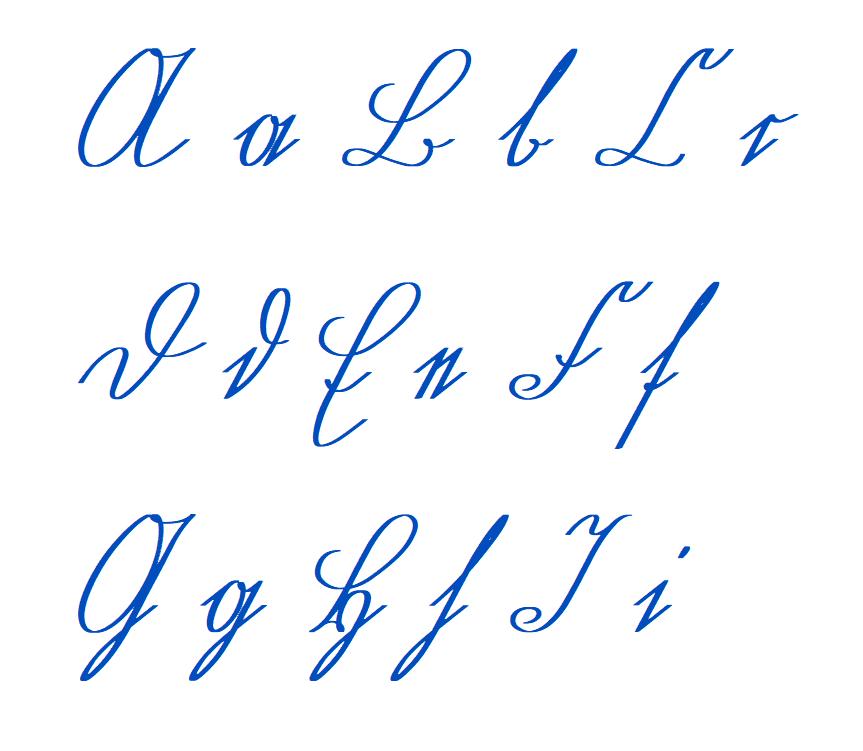 File Sütterlin Buchstaben A Bis I Blau Png Wikimedia Commons