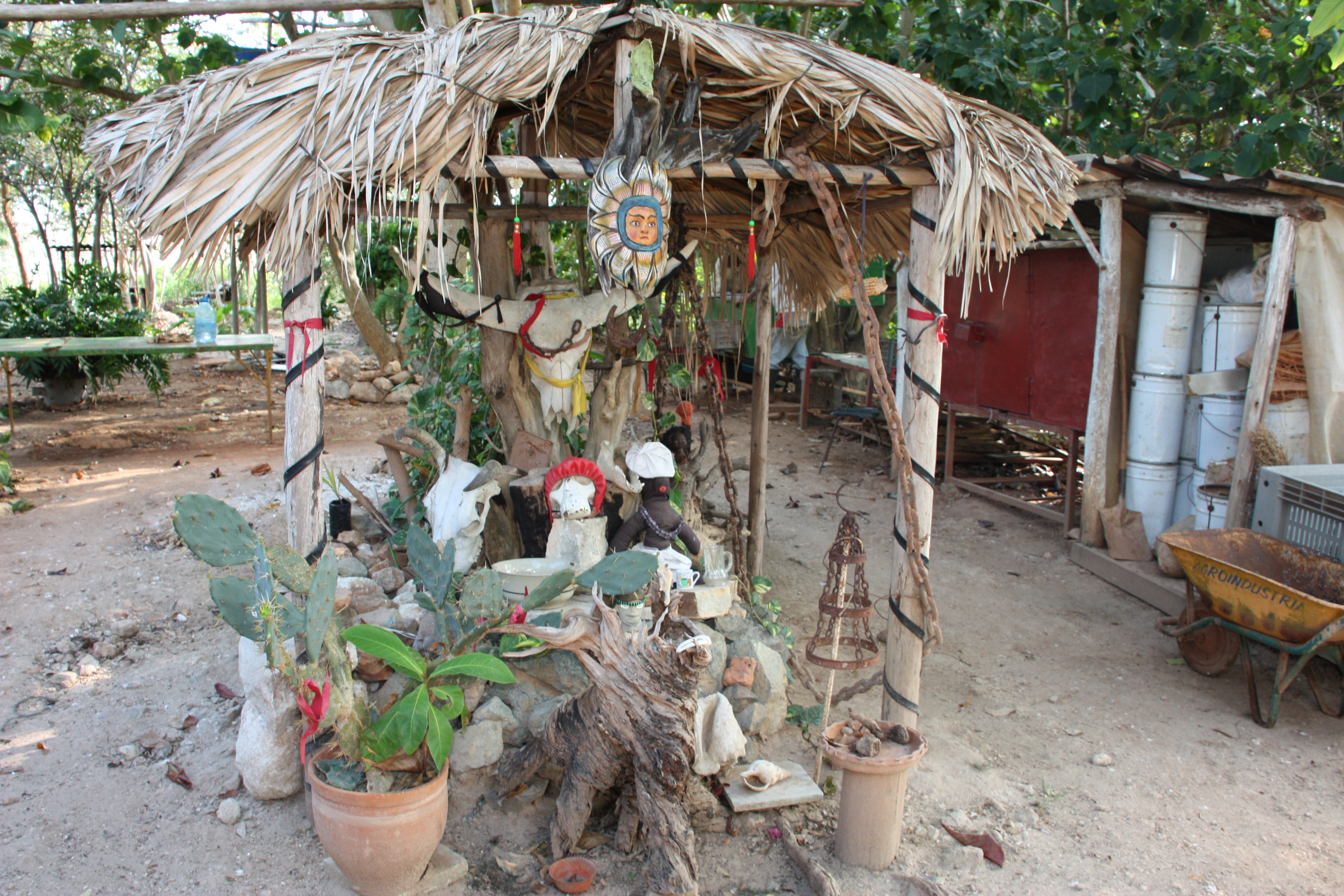 A Santería altar in Cuba. Photo by Susanne Bollinger / CC BY-SA (https://creativecommons.org/licenses/by-sa/4.0)