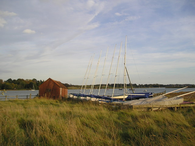 Sailing dinghies at Kyson Point - geograph.org.uk - 1020958