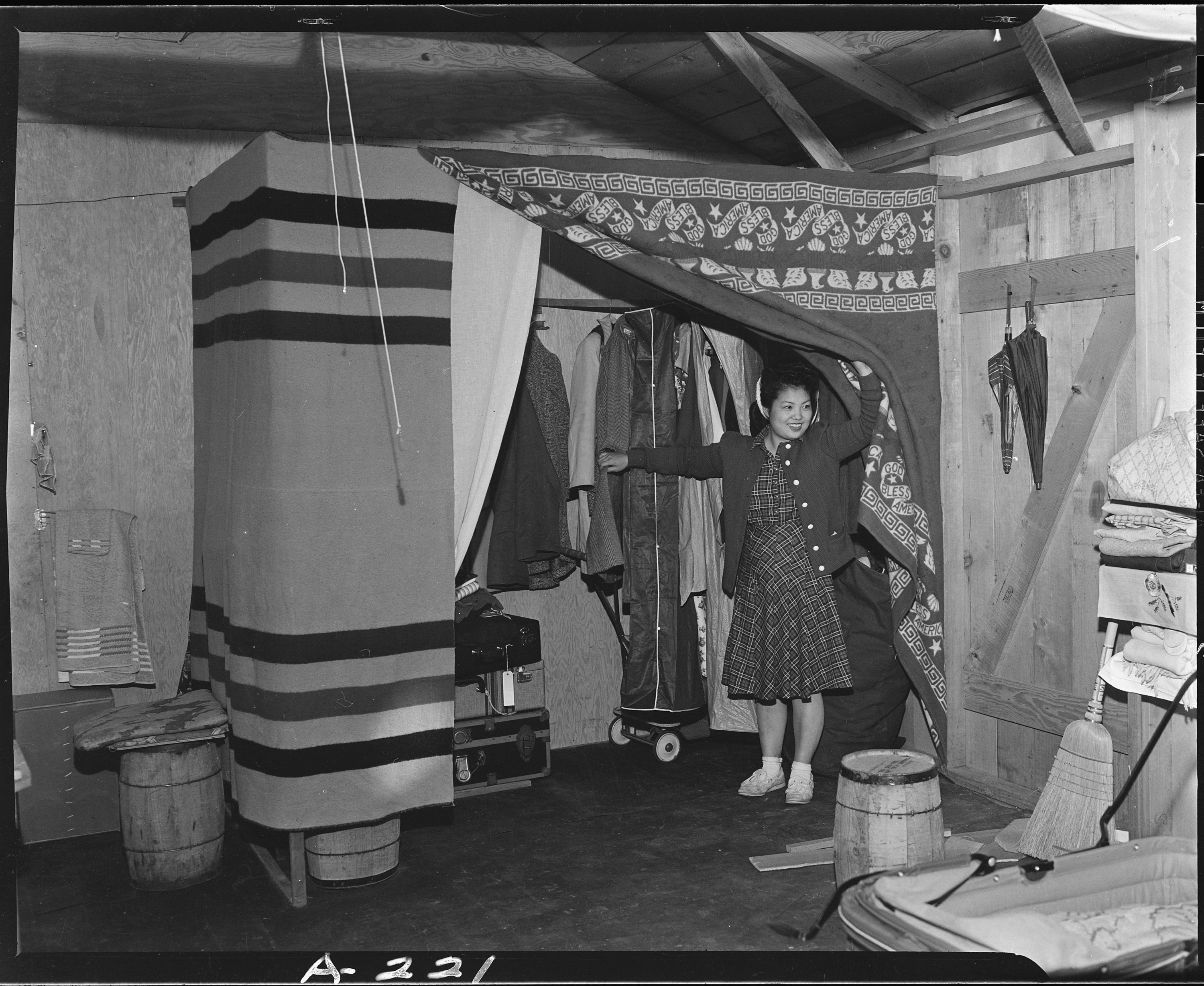 File Salinas California Makeshift Closet In Barracks At Assembly Center Persons Of Japanese
