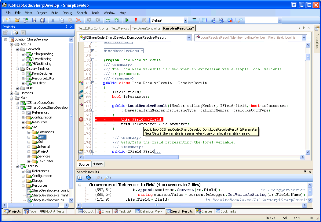 SharpDevelop on visual studio express