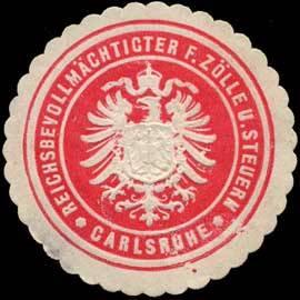 File:Siegelmarke Reichsbevollmächtigter für Zölle und Steuern Carlsruhe W0311365.jpg