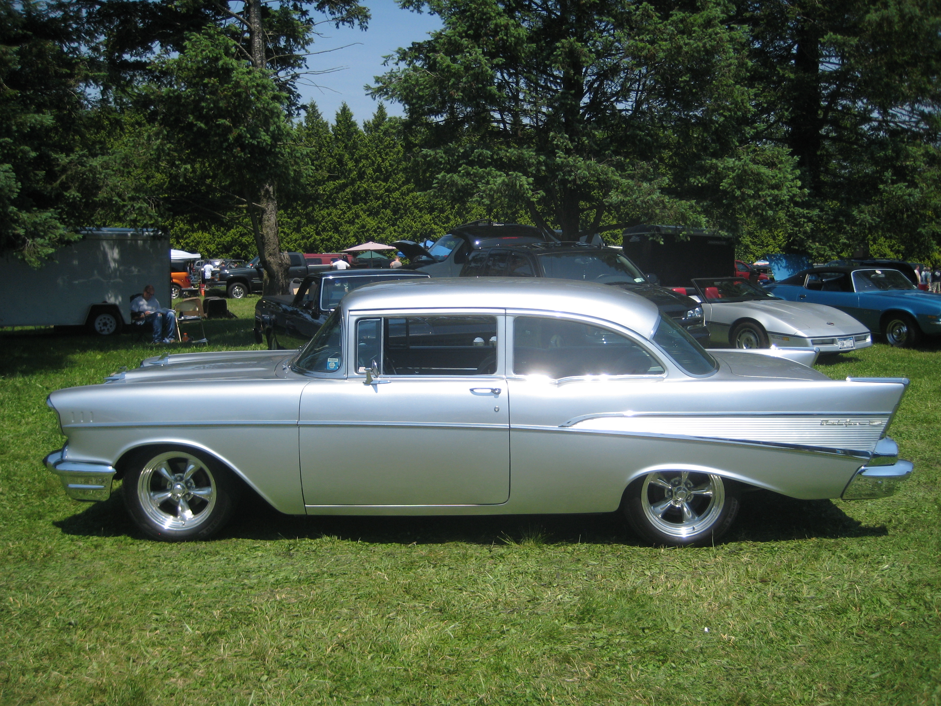 File silver 1957 chevrolet bel air jpg