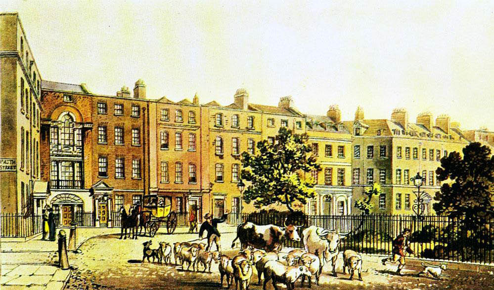 Quartier de Soho à Londres en 1816