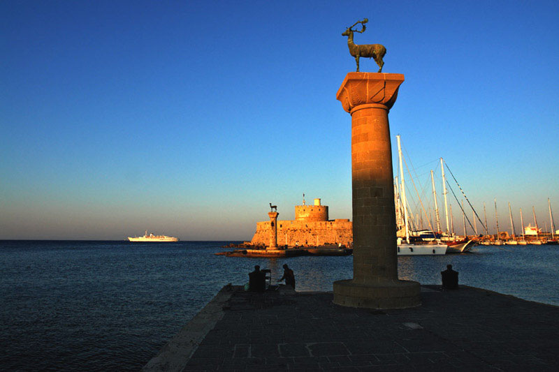 Mandraki Port in Rhodes