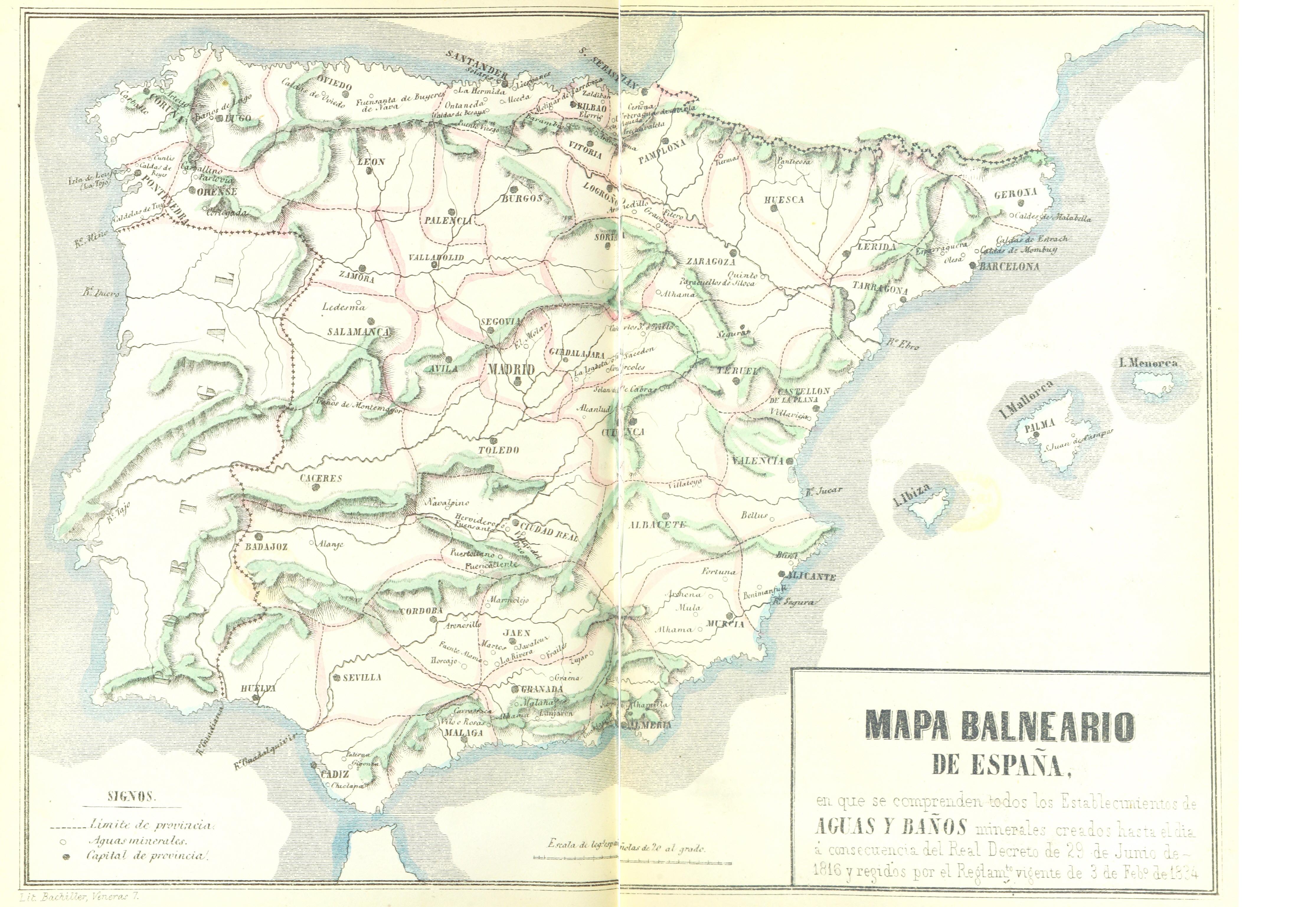 File T V 1857 23 Mapa Balneario De Espana En Que Se