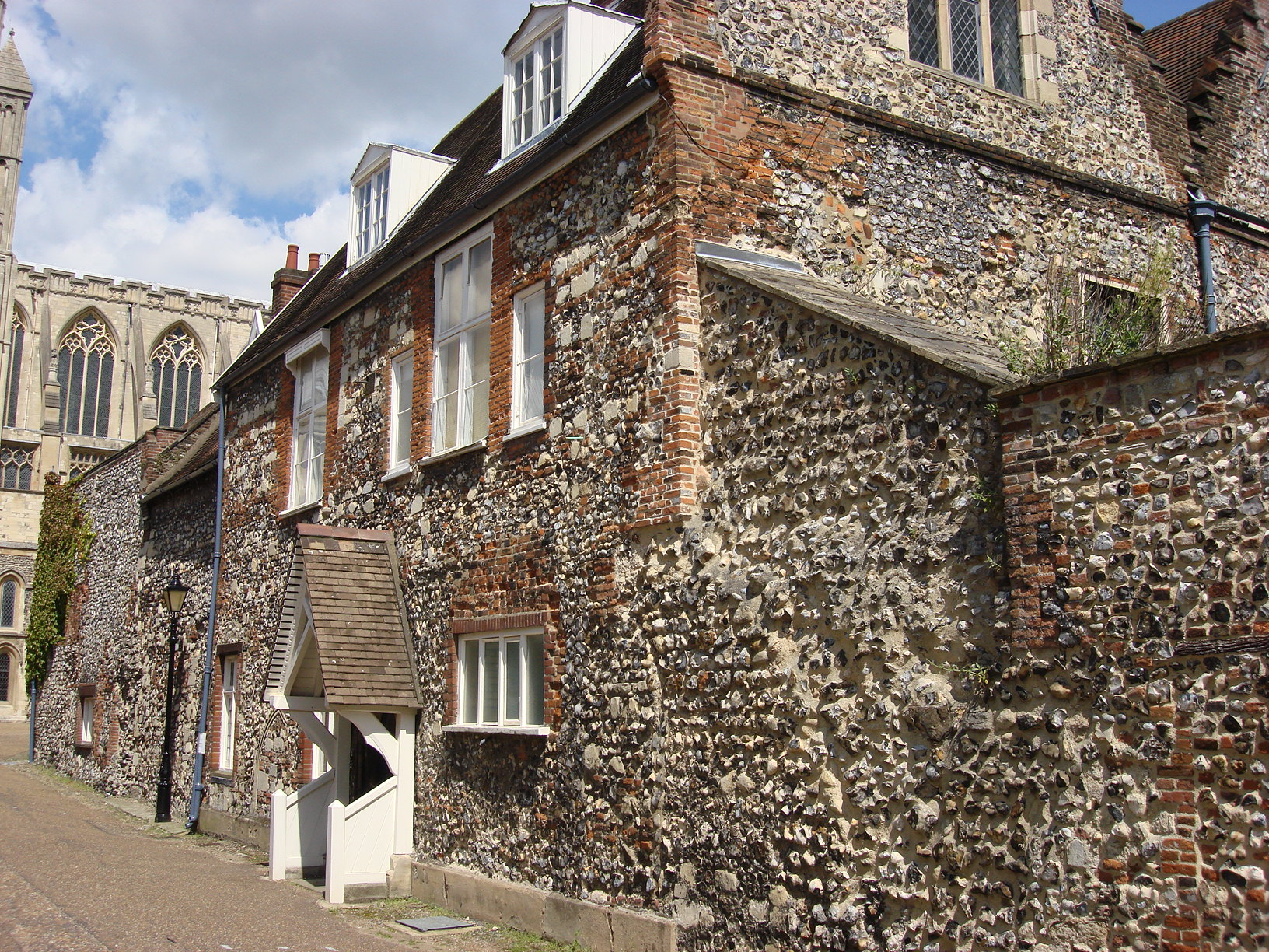 File the deanery priors hall and adjoining boundary wall for Adjoining wall