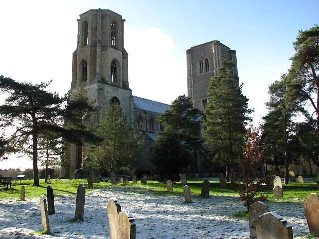 The twin towers of Wymondham Abbey - geograph.org.uk - 675427