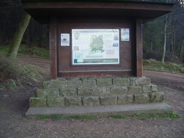 Thrunton Wood information board - geograph.org.uk - 1199880