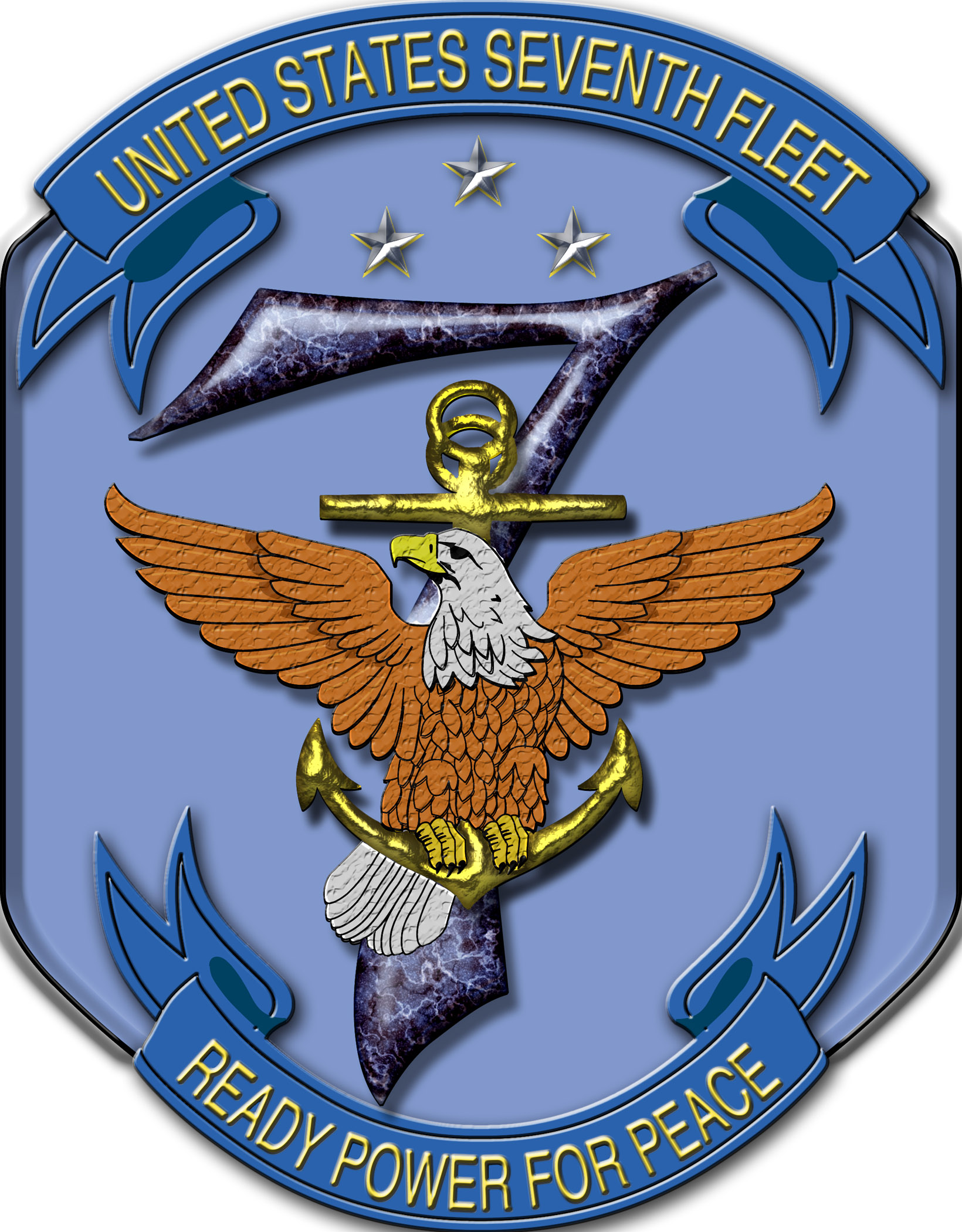 Military Patch USN Commander 7th Carrier Group CVW-7