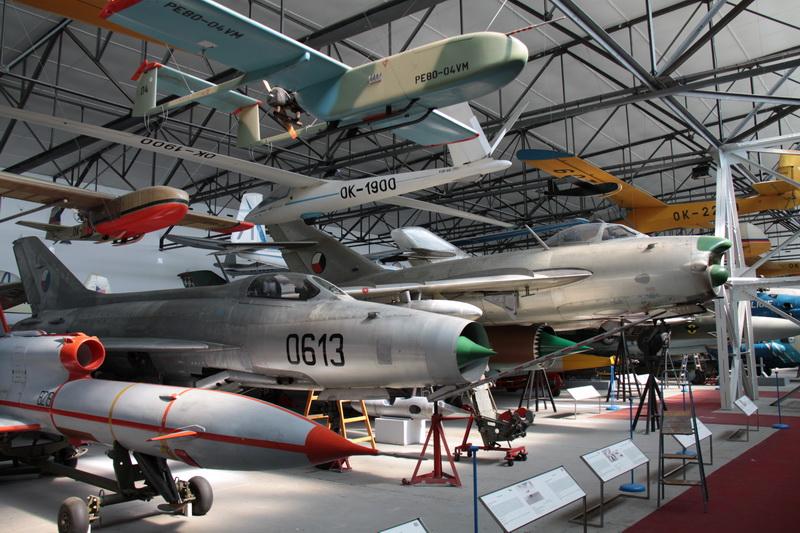 Expozice leteckého muzea Kbely