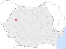 Location of Vaşcău