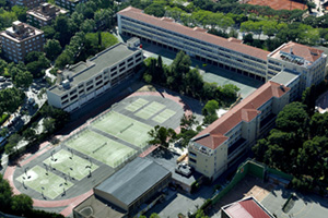 Aerial view of the Lycée Français de Barcelone.