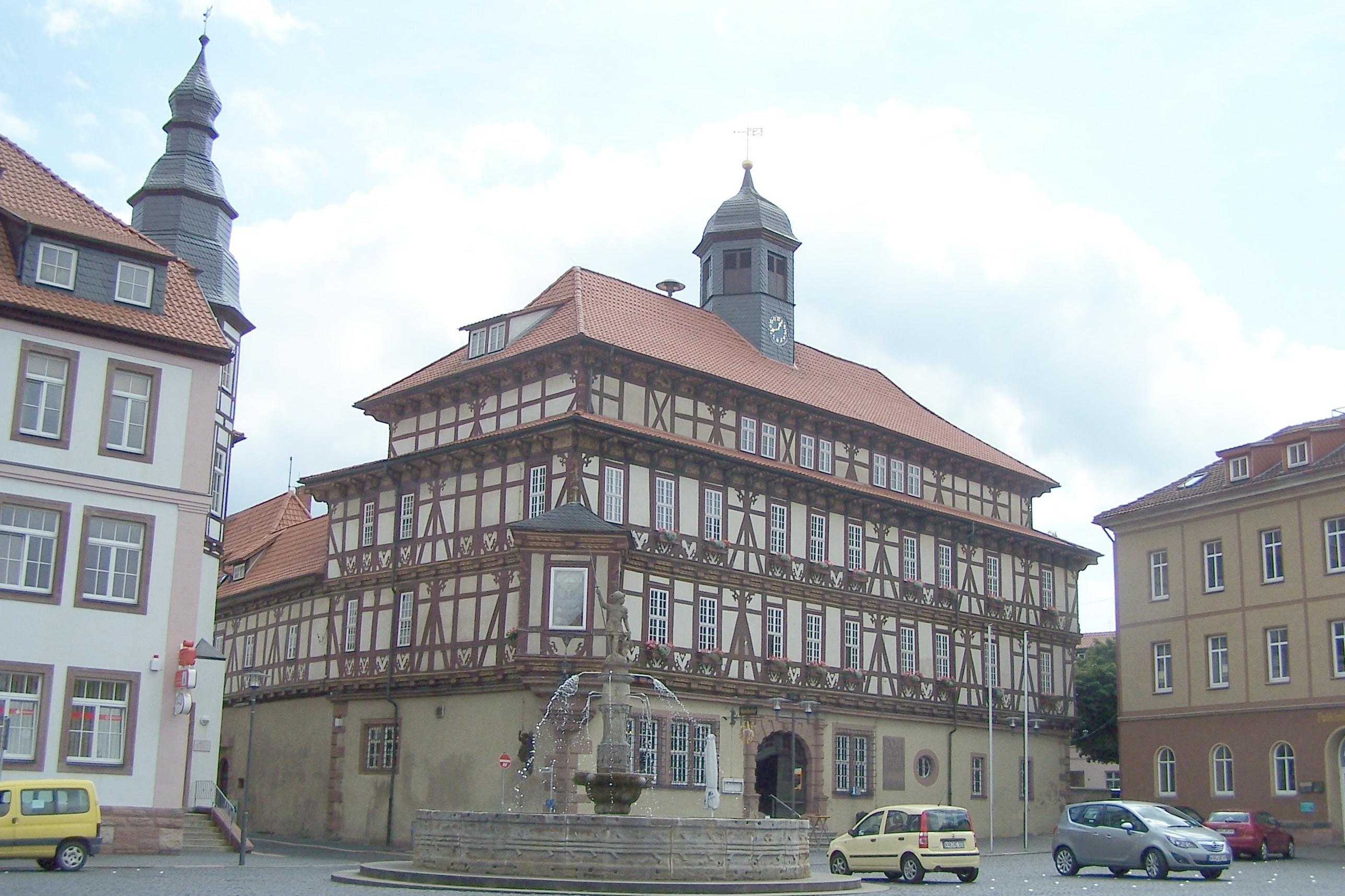 Ansichten und Details zum Haus Widemark, heute Rathaus der Stadt Vacha.
