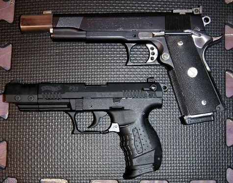 file walther p22 and colt 1911 clone jpg wikimedia commons