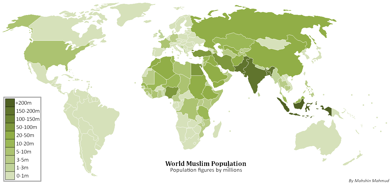 FileWorld Muslim Population Png Wikimedia Commons - Islamic population in world