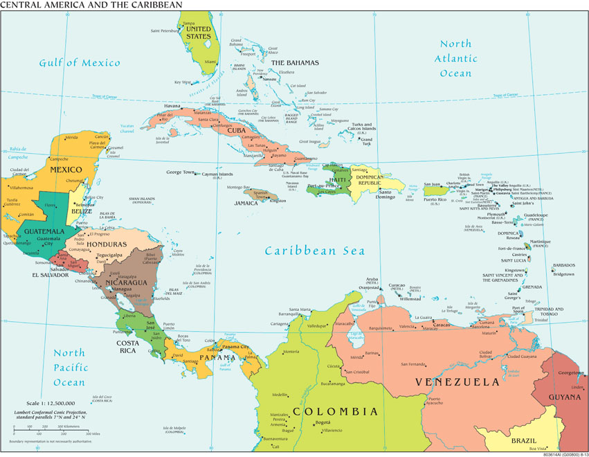 FilePolitical Central America CIA World Factbookjpg - Political map el salvador