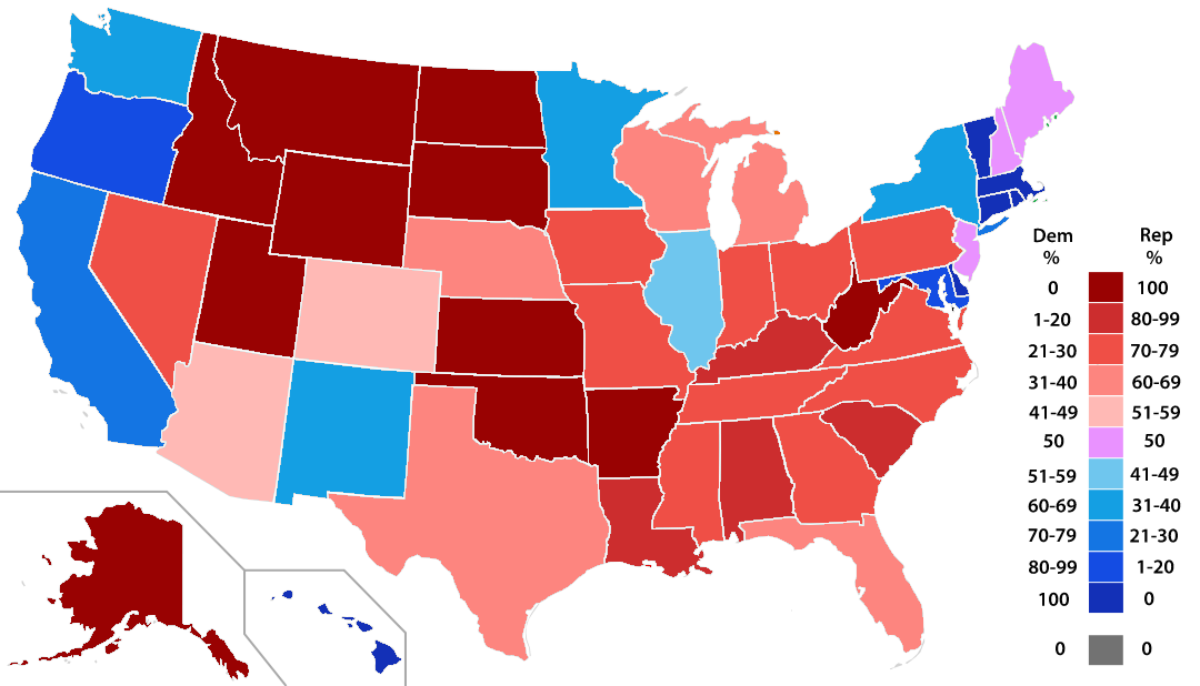Electoral College Tie Heres What Happens Time - Us map 2016 election