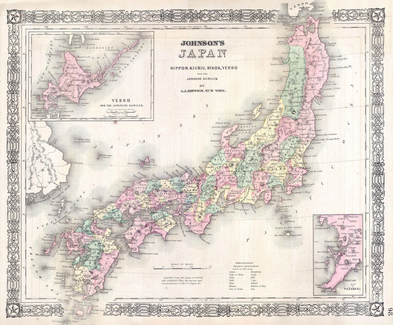 File:1864 Johnson's Map of Japan (Nippon, Kiusiu, Sikok ...
