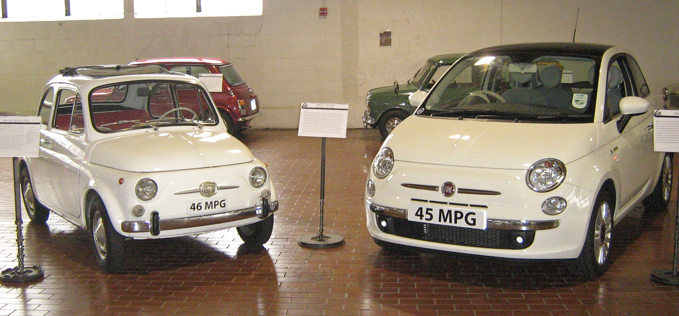 File 1966 Fiat Nuova 500f And 2008 Fiat 500 Jpg