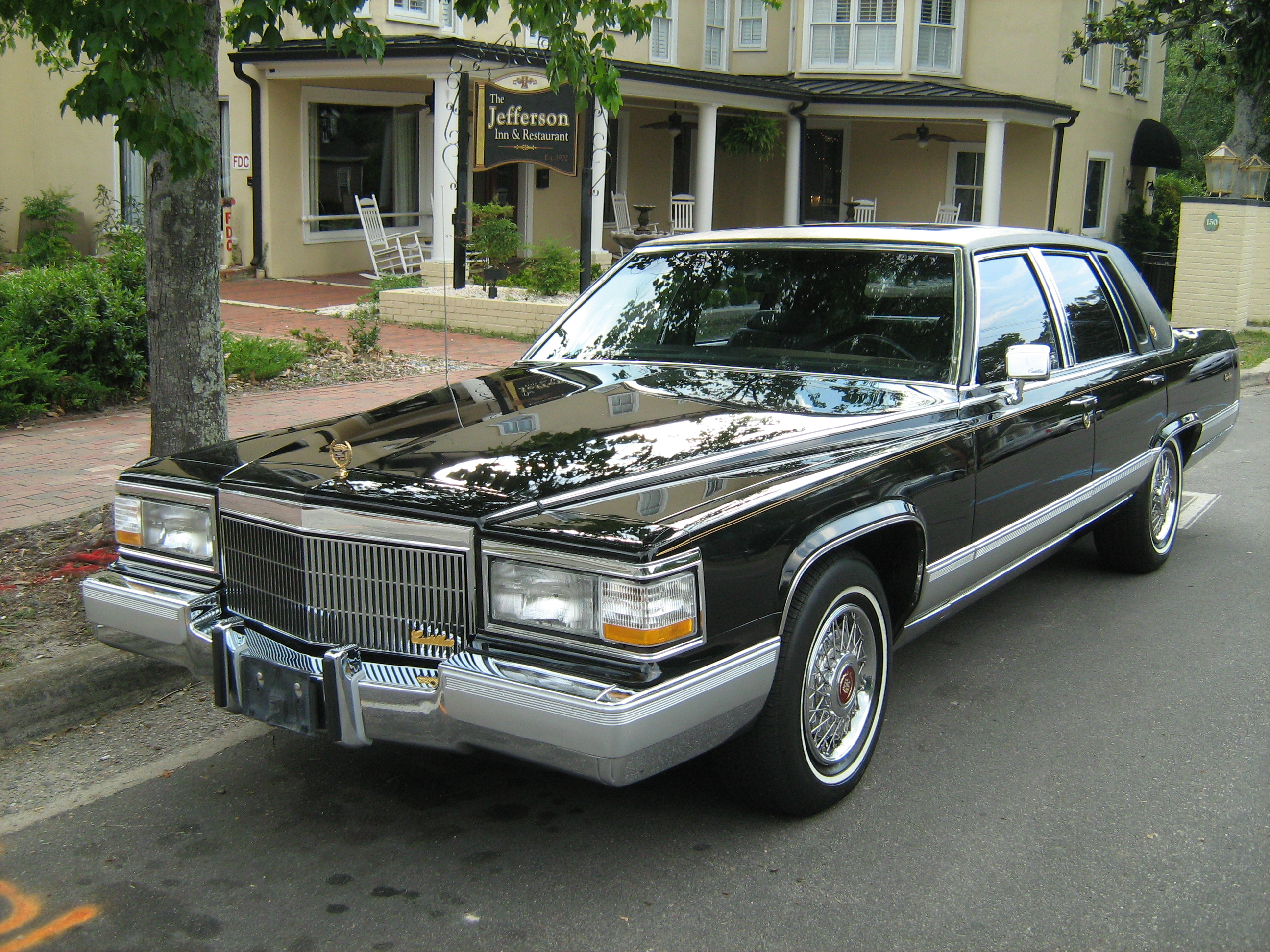 File 1991 Cadillac Brougham Gold Edition Black Fl Jpg