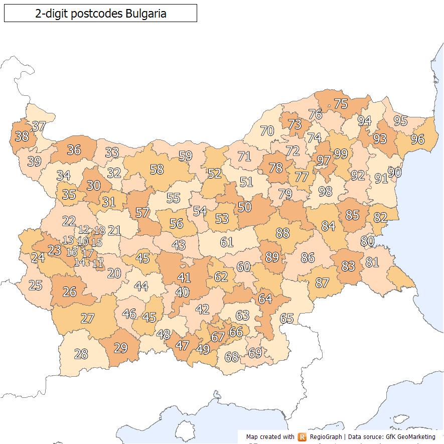 Postleitzahl Bulgarien