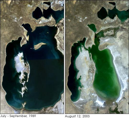 Серіктік суреттер: сол жақта - 1989; оң жақта - 2003 жж.