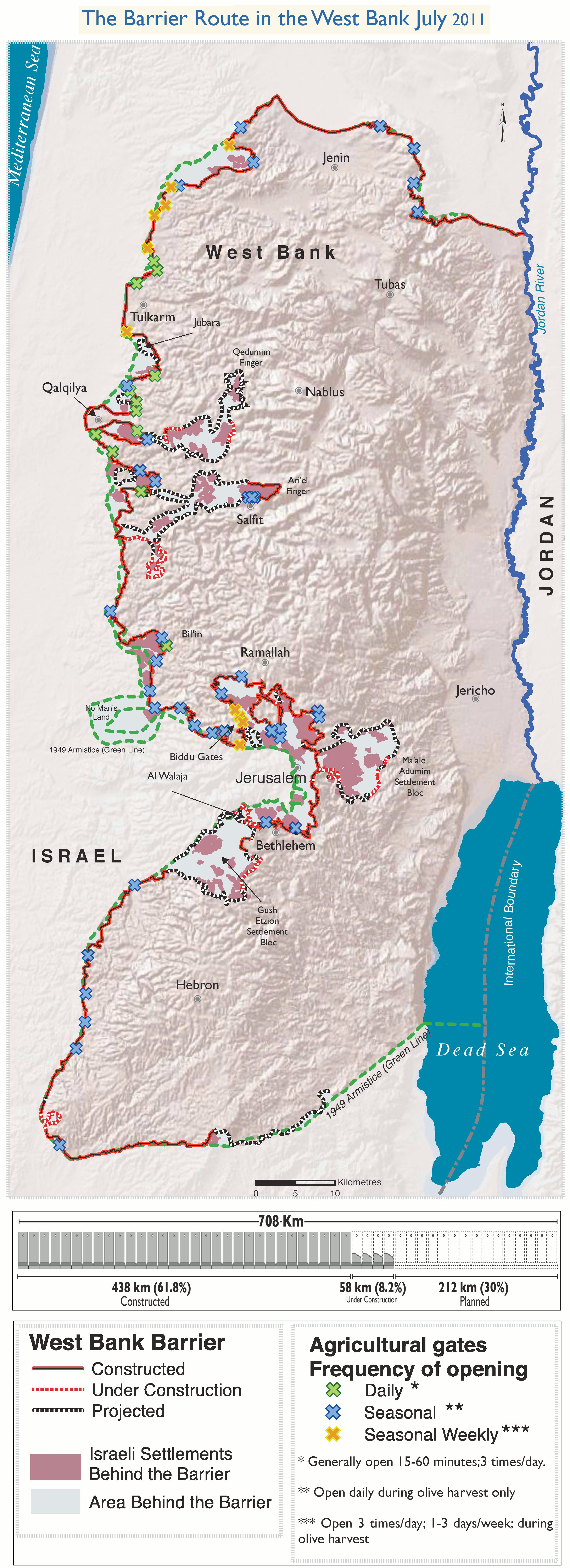 Construcción de la Barrera israelí de Cisjordania