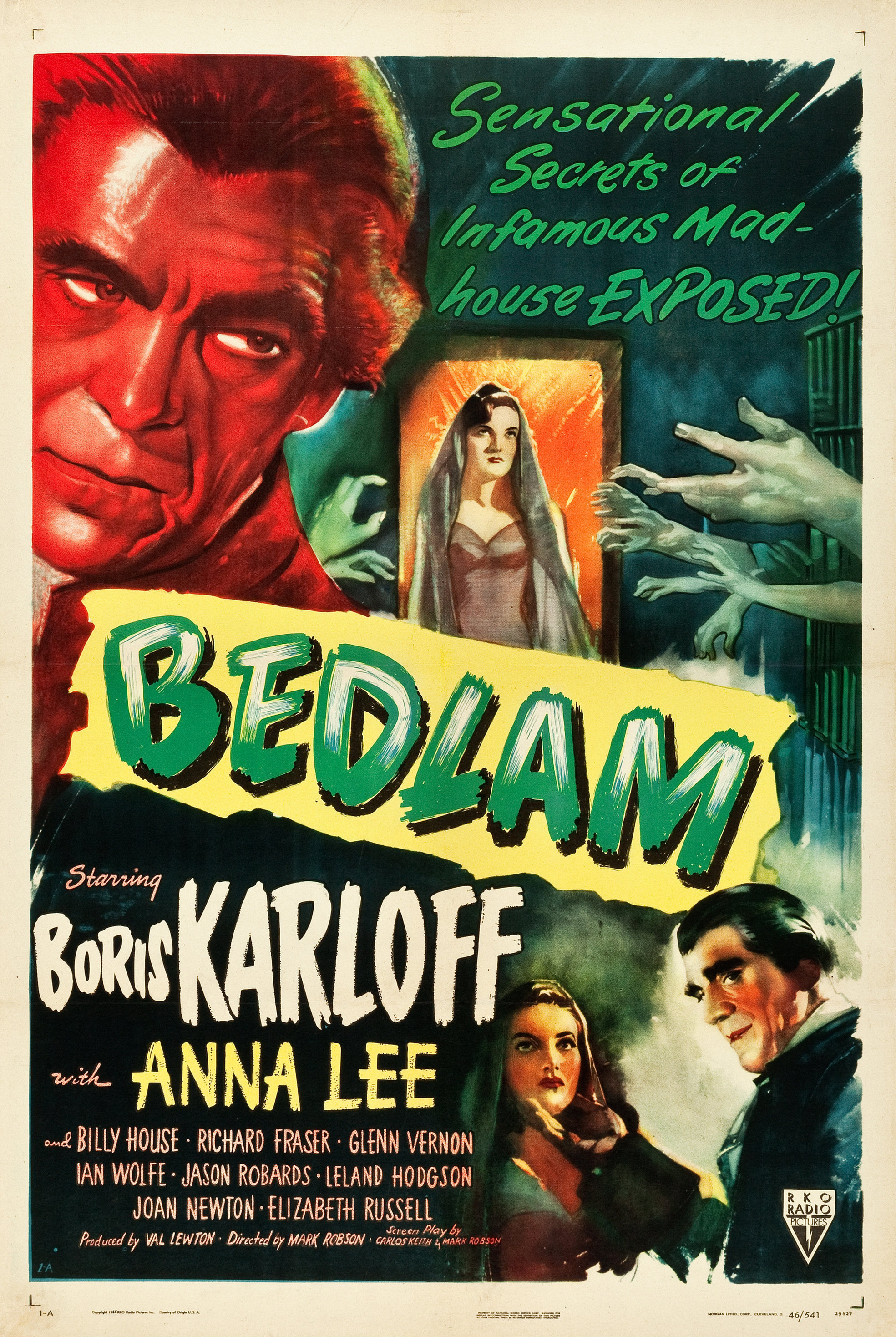 Boris Karloff Horror movie poster print 1944 The Curse of the Cat People