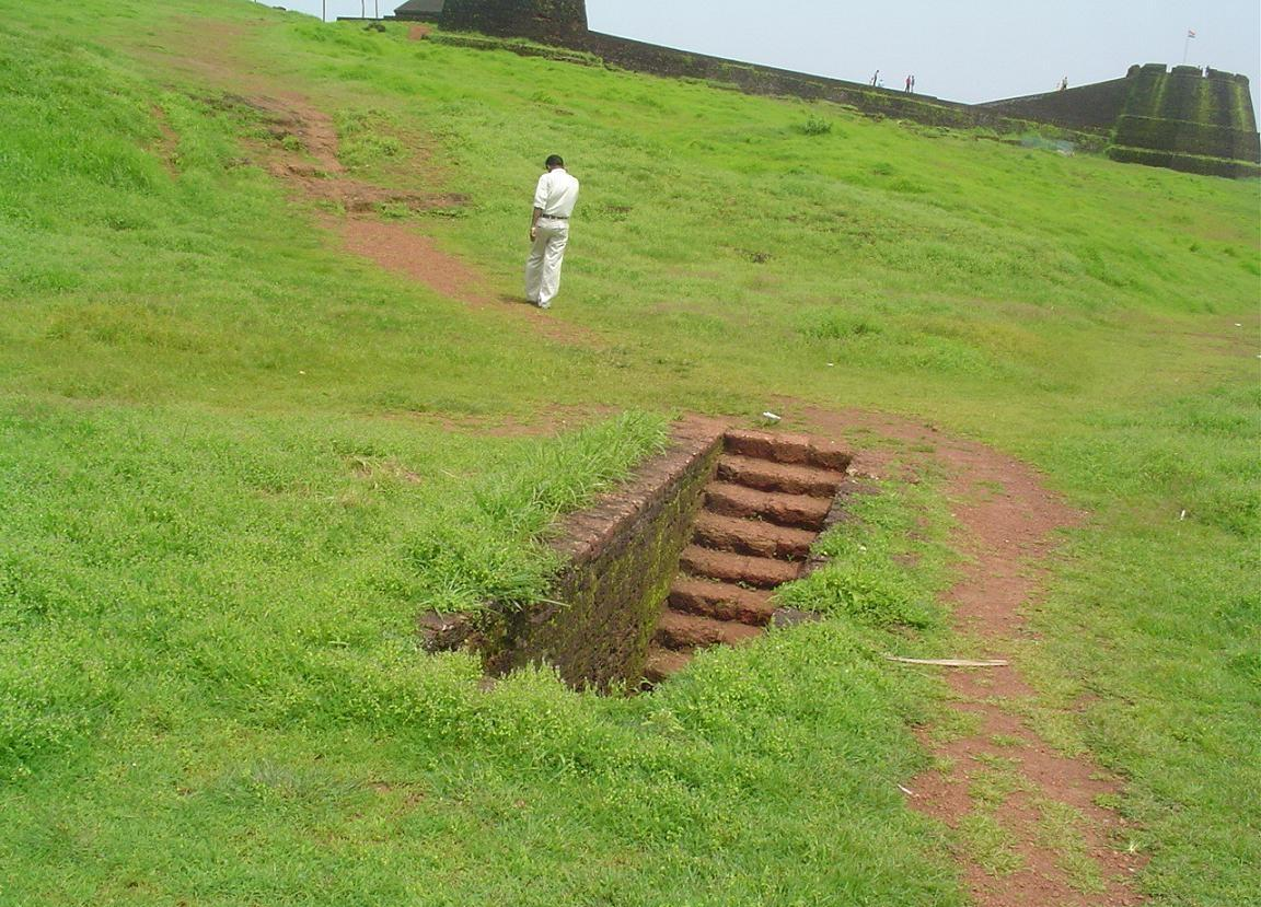 A stairway inside the Bekal Fort