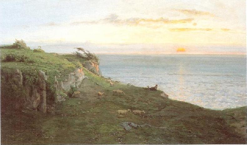 File:CHINTREUIL - La Mer au soleil couchant - Fécamp.jpg