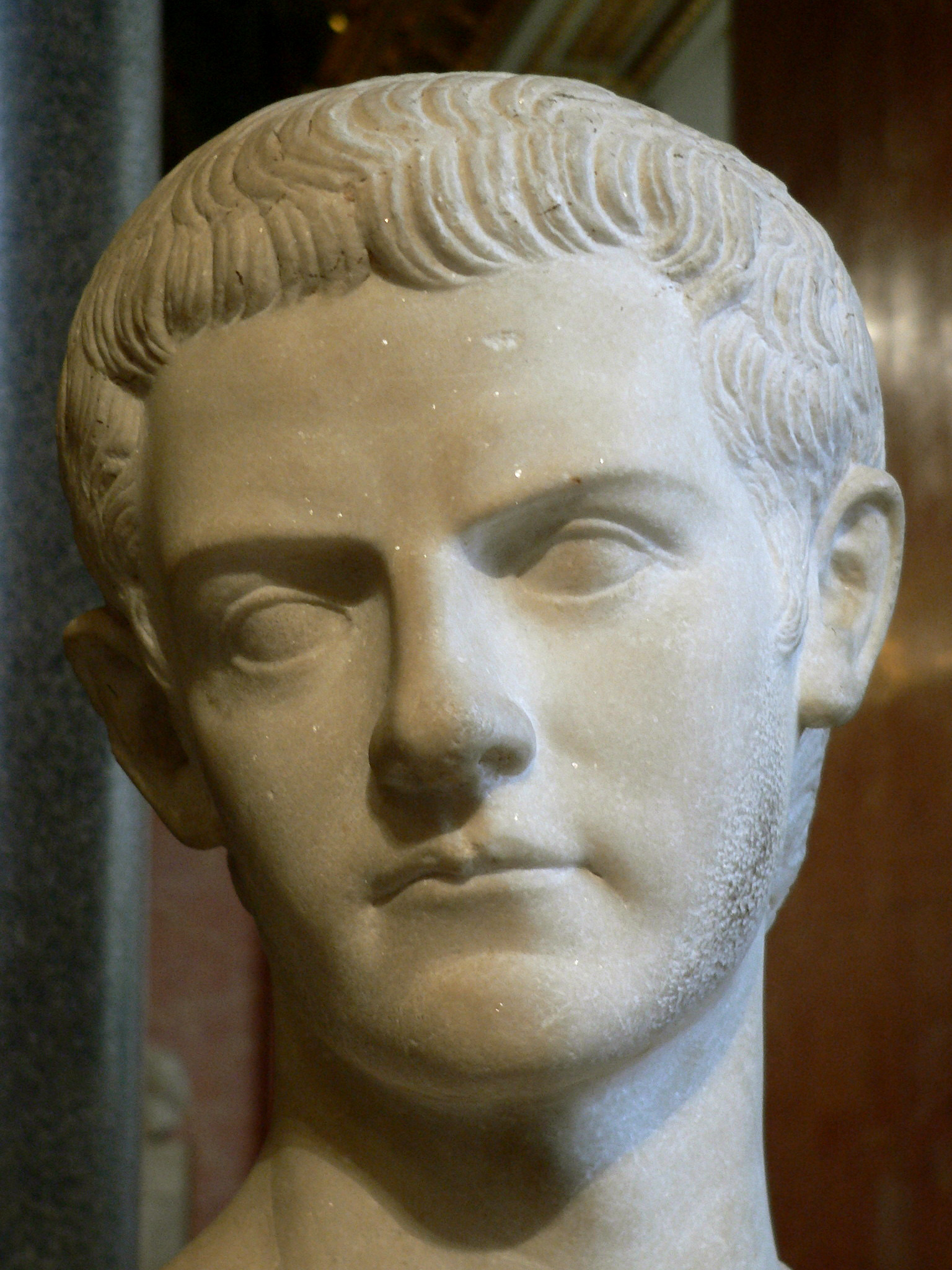 a biography of caligula the emperor of rome Caligula was born on august 31st, 12 ad he had four brothers and three sisters two of caligula's brothers died before they grew up caligula's father also died when caligula was only seven it's possible that the emperor tiberius poisoned caligula's father to get him out of the way after his father died,.