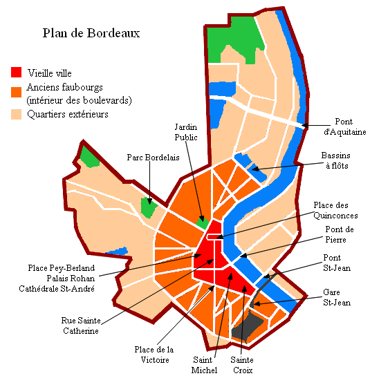 Carte Bordeaux Peripherie.Bordeaux Wikiwand