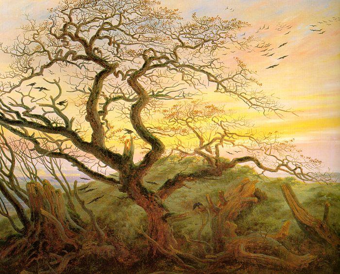 romantyzm, sztuka romantyzmu, malarstwo, olej na płótnie, kruki, kruk, wiersze, poezja, źródło: wikipedia