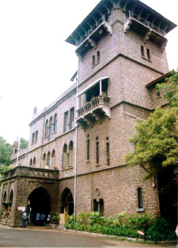 The facade of the main building of the College, which recently went through renovation