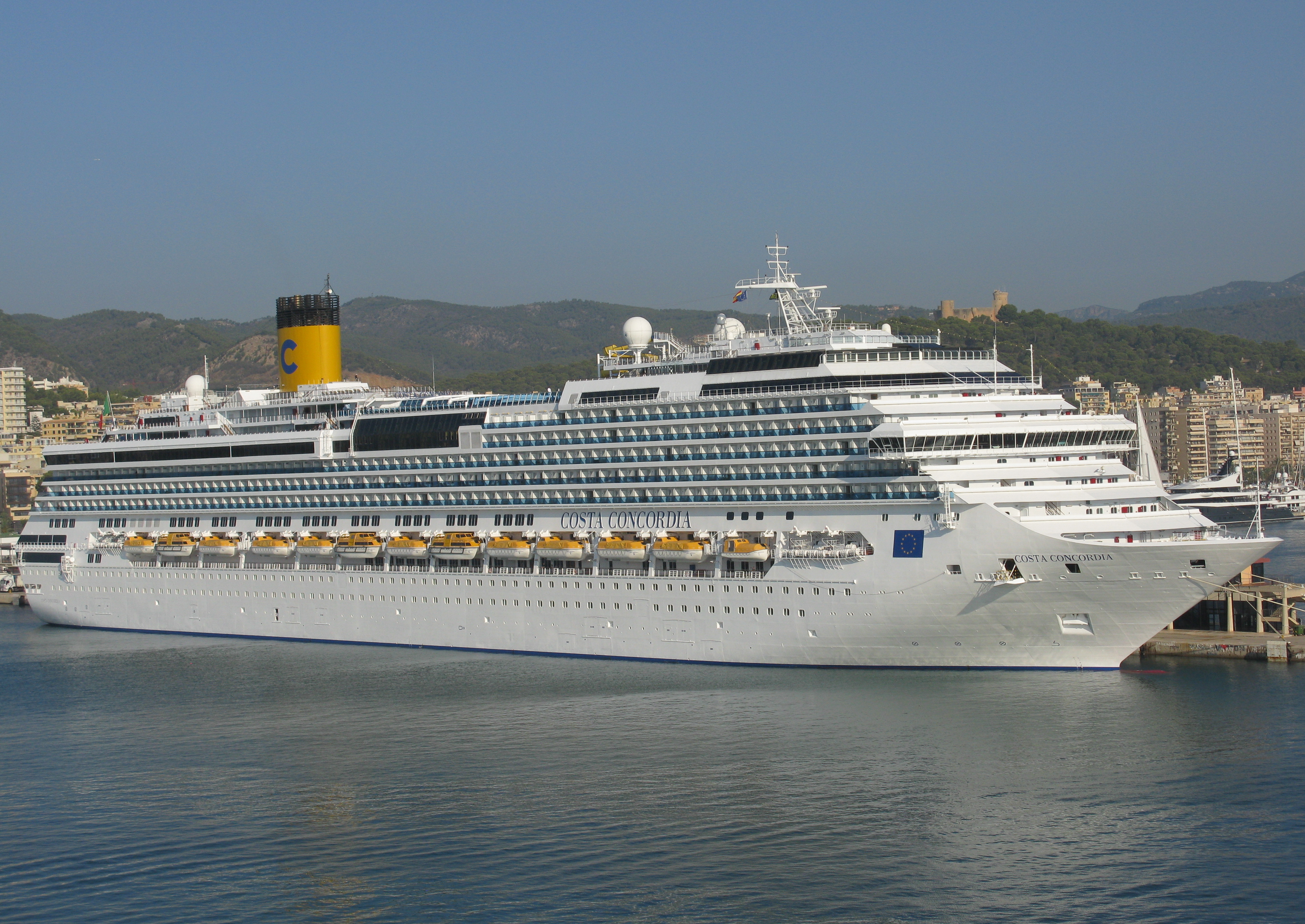 Description Costa Concordia in Palma, Majorca, Spain.JPG